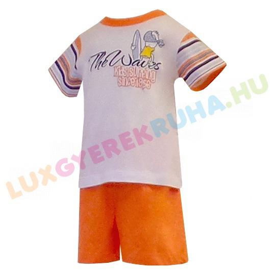 976b467955 Bambibel rövid ujjú pamut póló és sort fiúknak - Kids Surfing