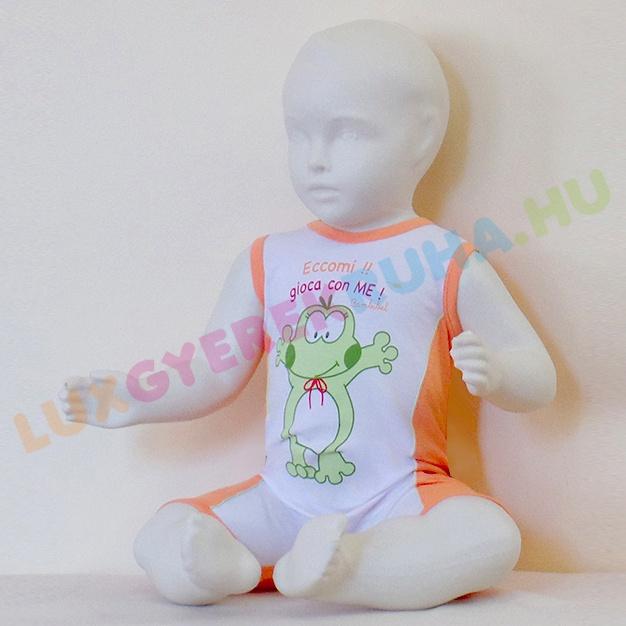 331062fb6a Bambibel márkájú, béka mintás, unisex pamut jersey napozó