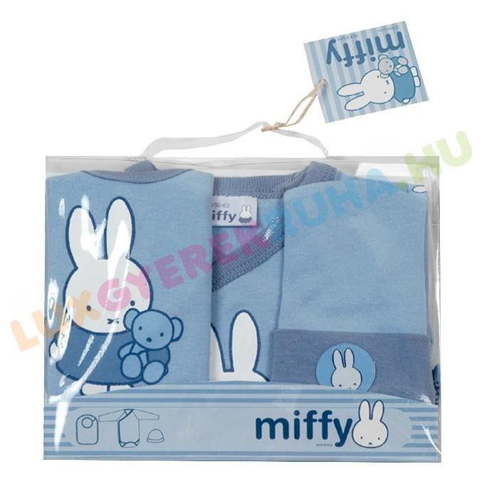 35791c8290 Miffy mintával díszített elegáns 3 db-os ajándékcsomag újszülött
