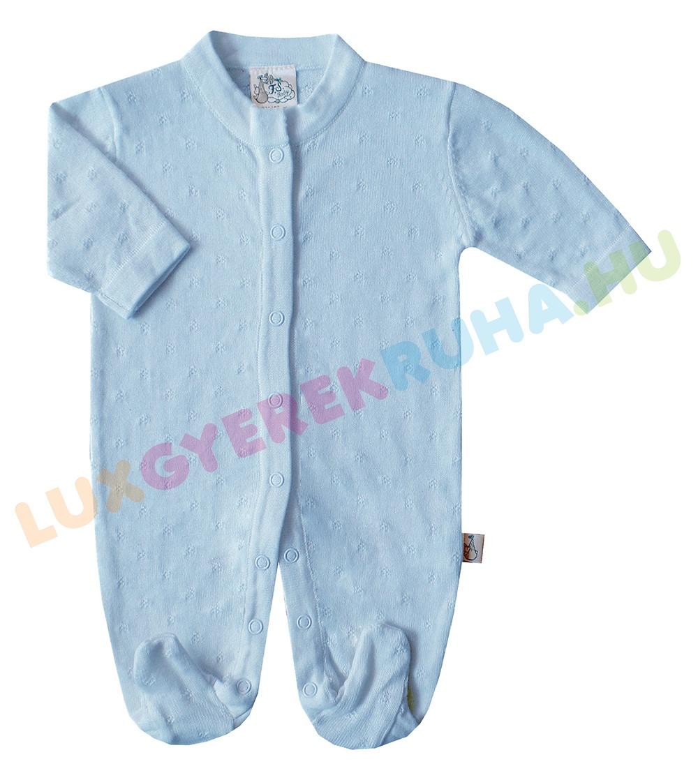 bb82daf75a F.S. Baby alkalmi, elöl gombolós kötött pamut rugdalózó, kezeslábas, pizsama
