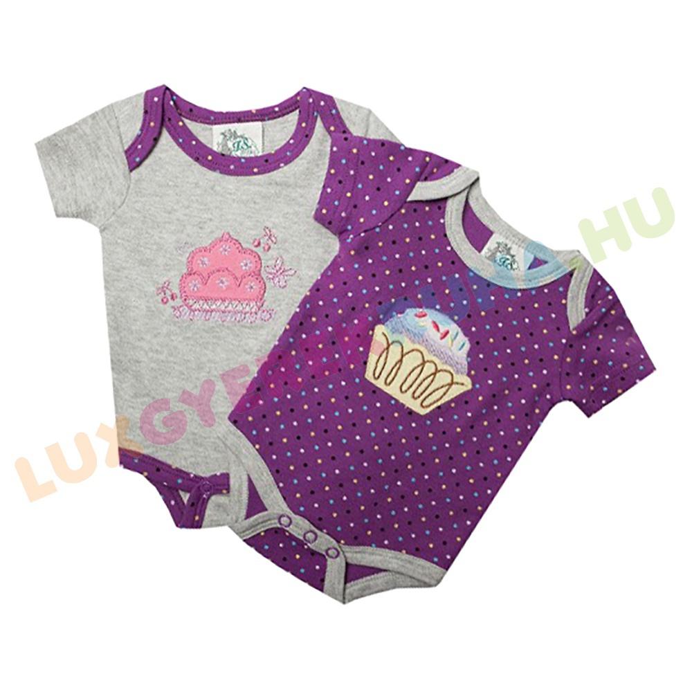 F.S. Baby 2 db-os rövid ujjú pamut body csomag - Muffin 0640a29eb4