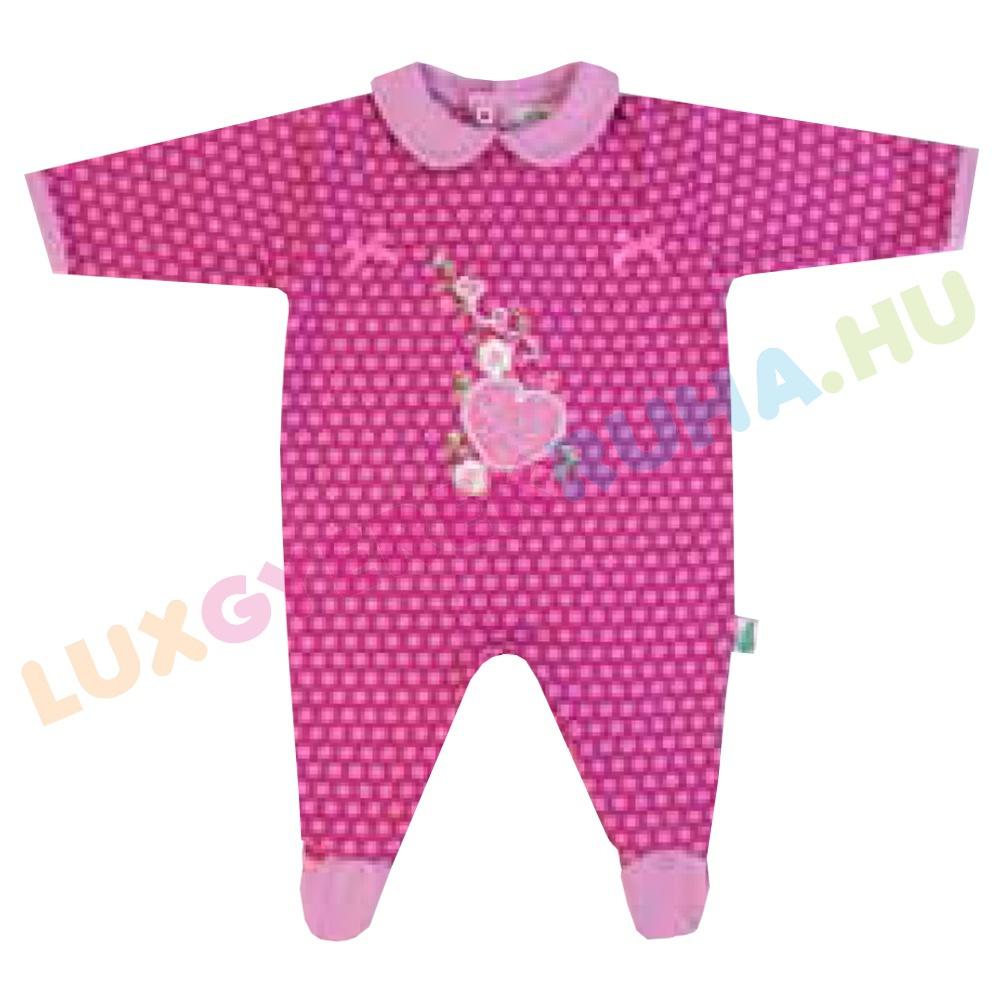 6f9ea12d52 F.S. Baby hátul gombolós pamut rugdalózó lányoknak, kezeslábas, pizsama -  Cute