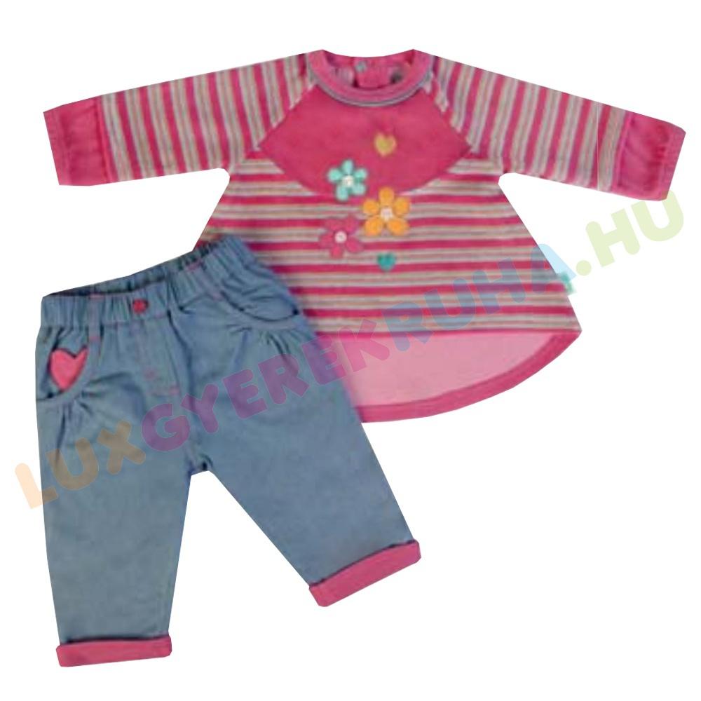 52ed7600dd ELŐRENDELÉS! - F.S. Baby hosszú ujjú plüss tunika póló, bélelt  farmernadrággal lányoknak - Princess