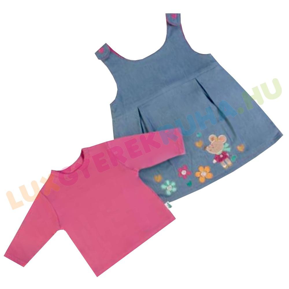 235821f779 ELŐRENDELÉS! - F.S. Baby farmer kötényruha, lányka ruha hosszú ujjú pamut  pólóval lányoknak -