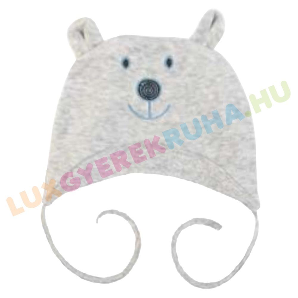 a06b004285 F.S. Baby megkötős plüss gyerek sapka maci fülekkel, baba sapka - Bear