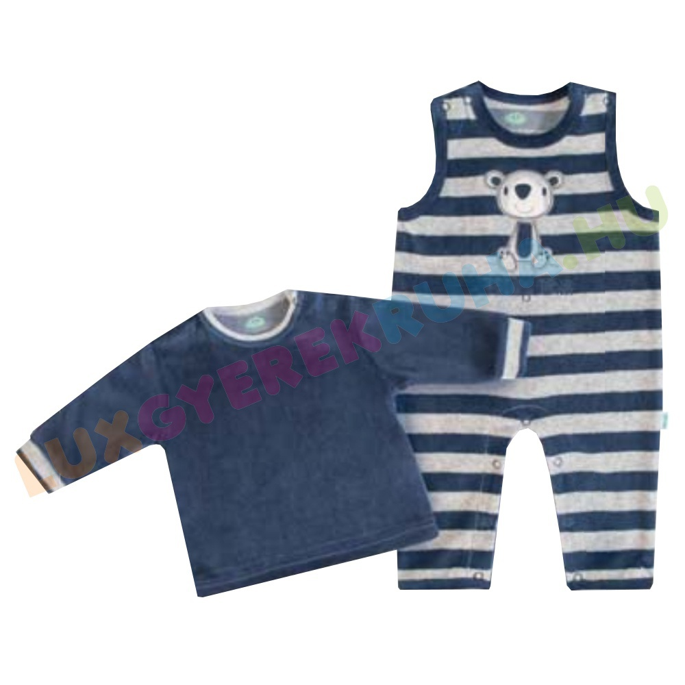 245d0d1d3b F.S. Baby plüss kantáros nadrág, kertésznyadrág pólóval - Teddy Bear