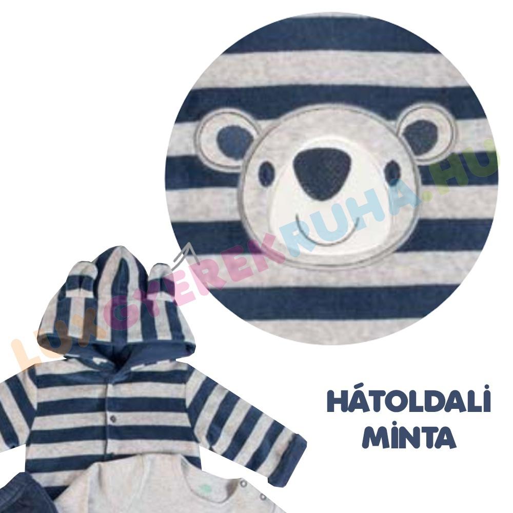 910c038551 F.S. Baby háromrészes vastag plüss együttes (kapucnis kabát, nadrág, póló