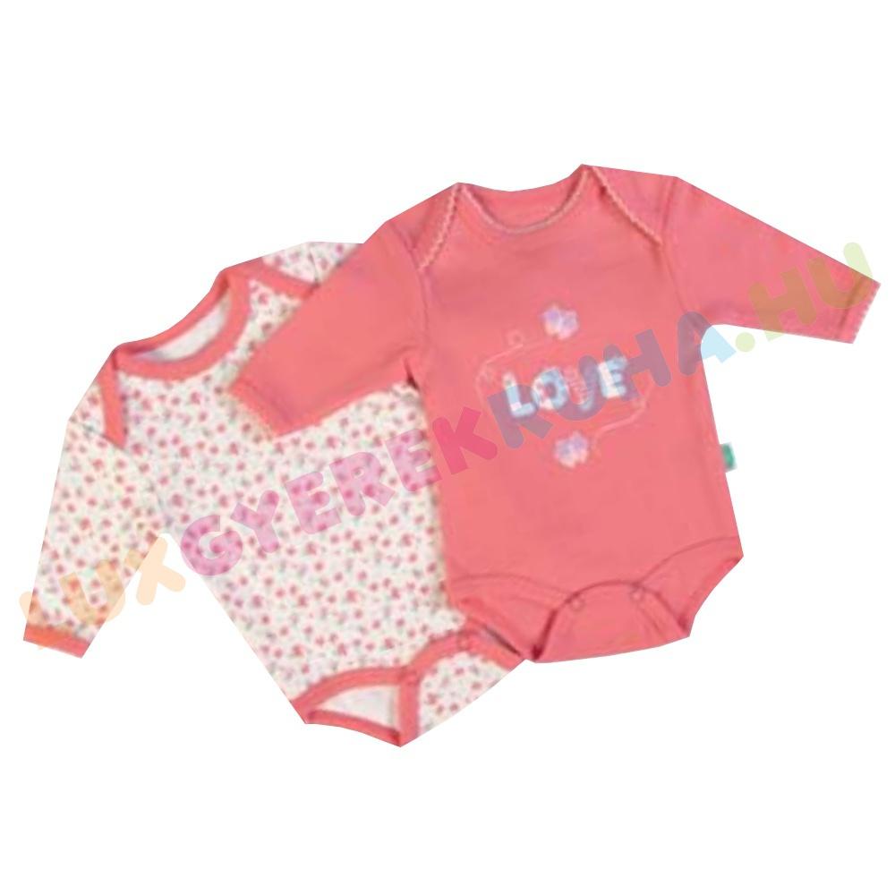 F.S. Baby 2 db-os hosszú ujjú pamut body csomag Love felirattal ... 1dd6fc9900