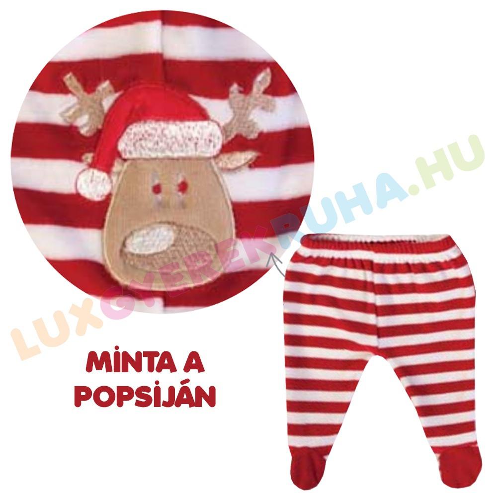 68dad4638d ELŐRENDELÉS! - F.S. Baby karácsonyi kétrészes plüss rugdalózó fiúknak és  lányoknak (hosszú ujjú póló