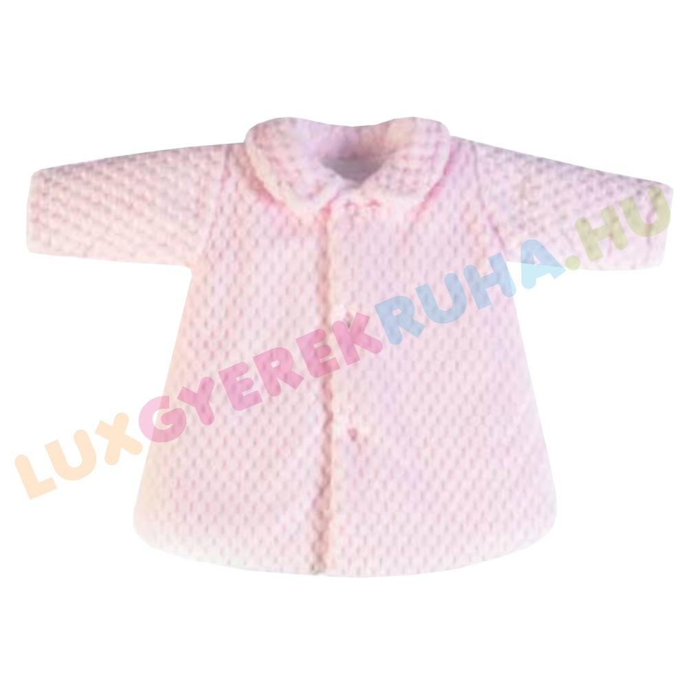 2dde277f33 F.S. Baby elegáns bundás télikabát, alkalmi dzseki lányoknak - Classic Pink