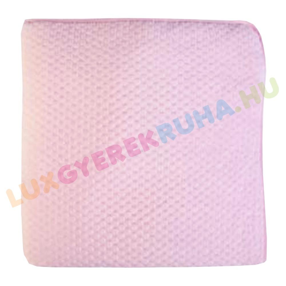 8e0180fc54 F.S. Baby elegáns bundás babatakaró, pléd - Classic Pink (80x80 cm