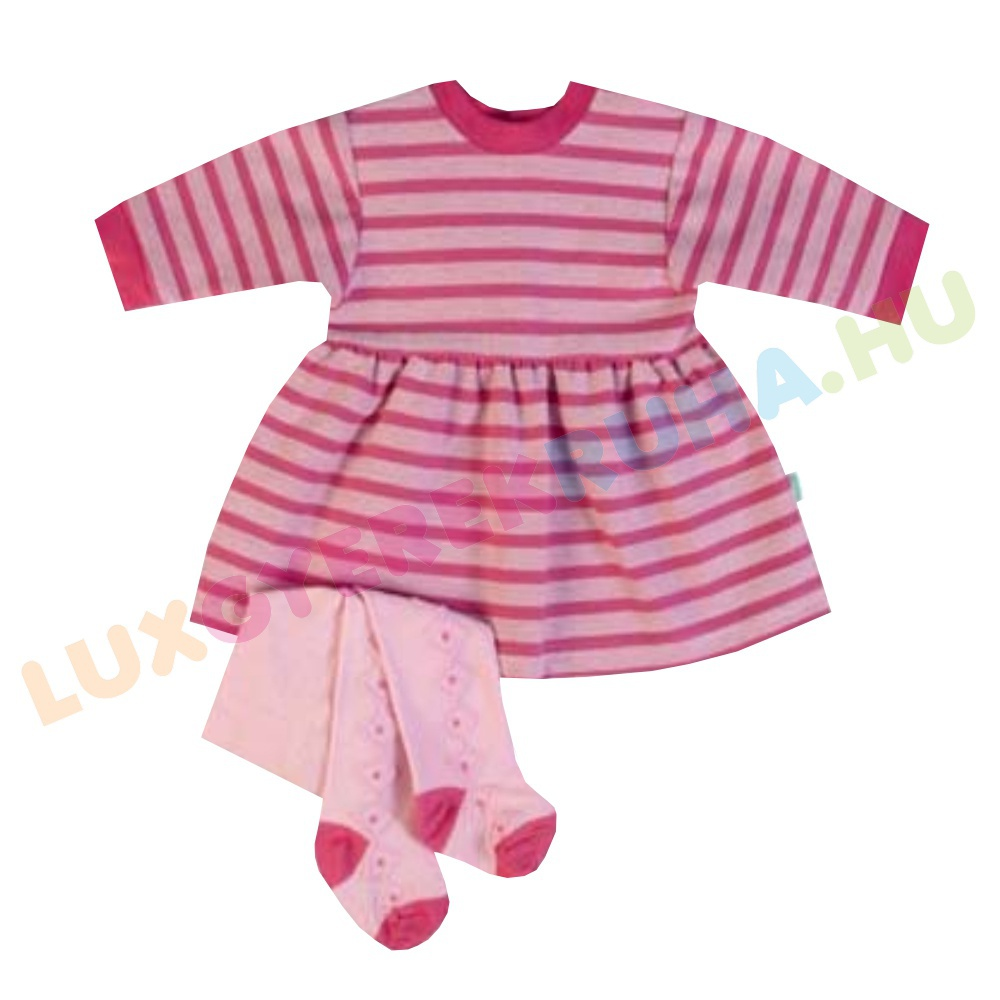 43c2d1cf45 ELŐRENDELÉS! - F.S. Baby hosszú ujjú pamut ruha, lányka ruha harisnyával  lányoknak - Ballerina