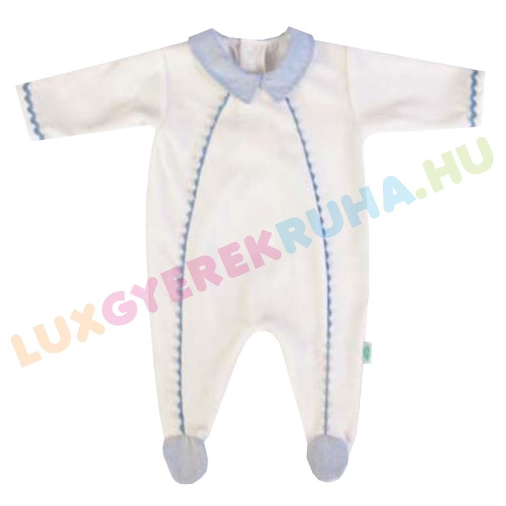 426e94f258 F.S. Baby hátul gombolós alkalmi plüss rugdalózó fiúknak, kezeslábas,  pizsama -