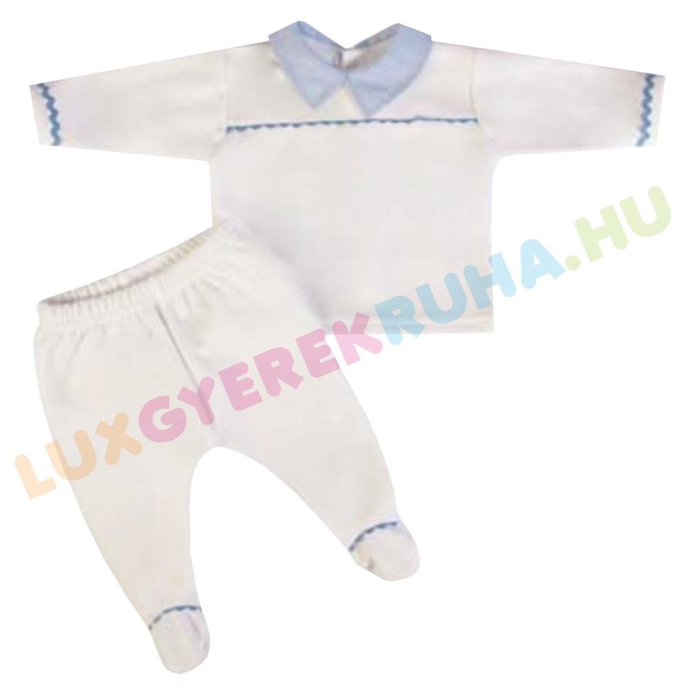 2780634e3e F.S. Baby kétrészes alkalmi plüss rugdalózó fiúknak (hosszú ujjú póló  lábfejes nadrággal