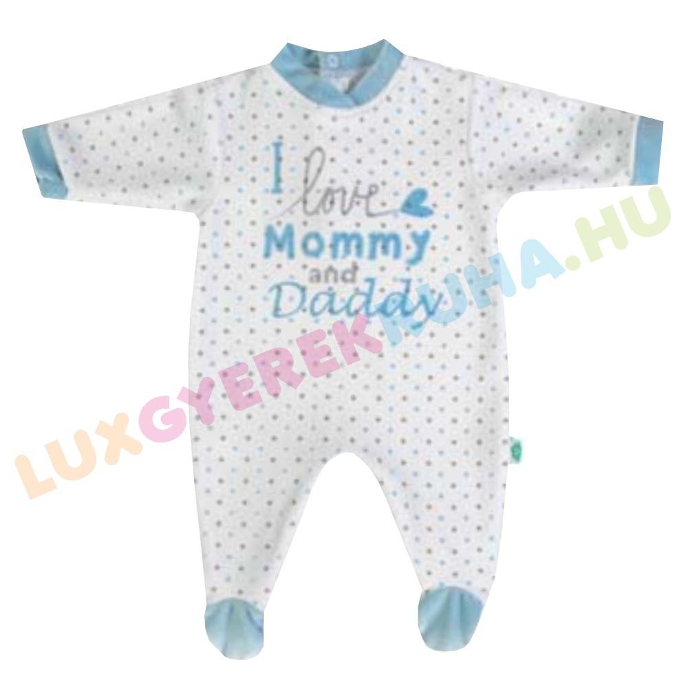 dc71e954c8 F.S. Baby hátul gombolós plüss rugdalózó fiúknak, kezeslábas, pizsama - I