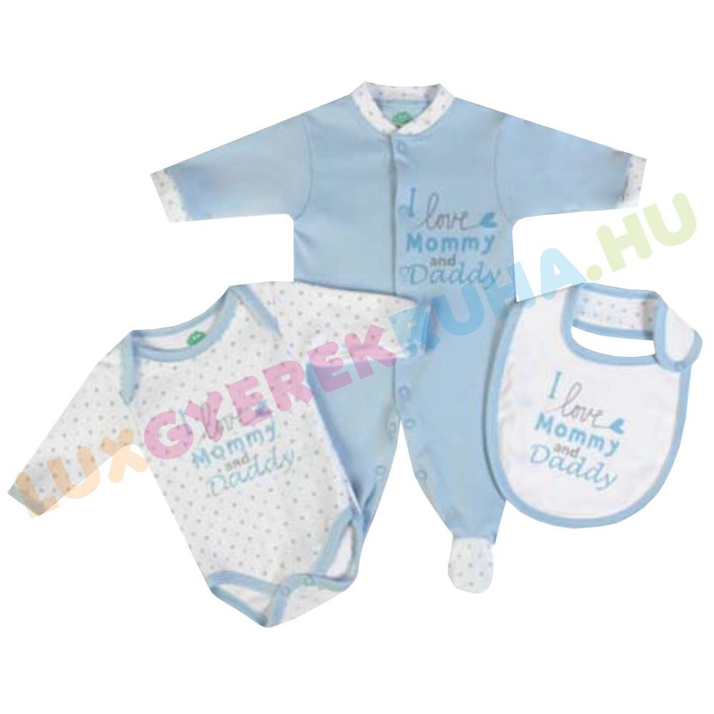 F.S. Baby 3 db-os ajándékcsomag fiúknak (pamut rugdalózó 20df583ecc