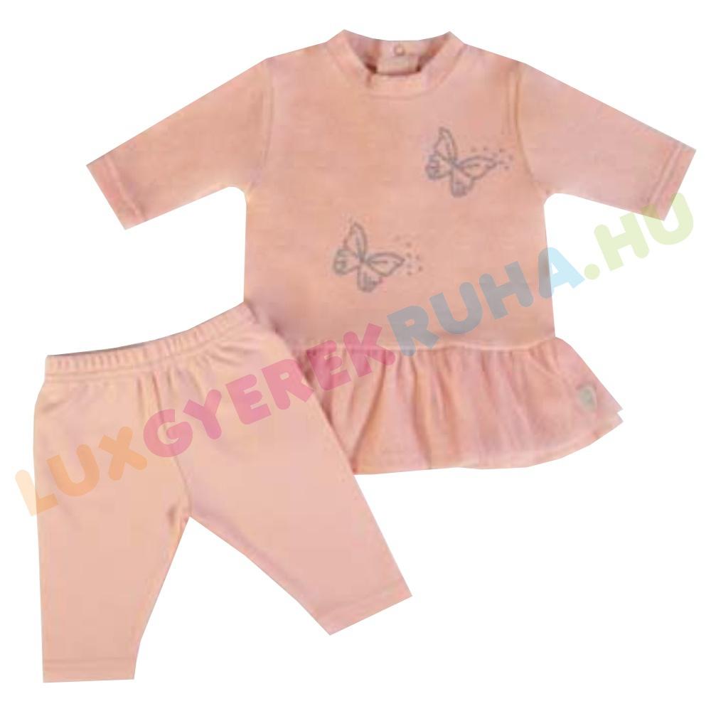 cc28445fe9 ELŐRENDELÉS! - F.S. Baby hosszú ujjú plüss ruha, pamut leggingssel  lányoknak - Butterfly