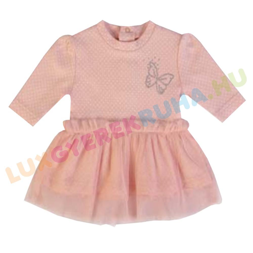 eddc93a907 ELŐRENDELÉS! - F.S. Baby elegáns hosszú ujjú pamut ruha, alkalmi lányka ruha  - Butterfly