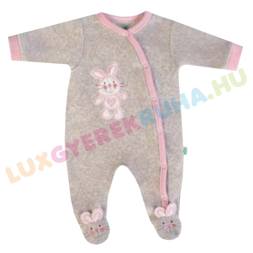 ac535048f3 F.S. Baby elöl gombolós plüss rugdalózó lányoknak, kezeslábas, pizsama - My