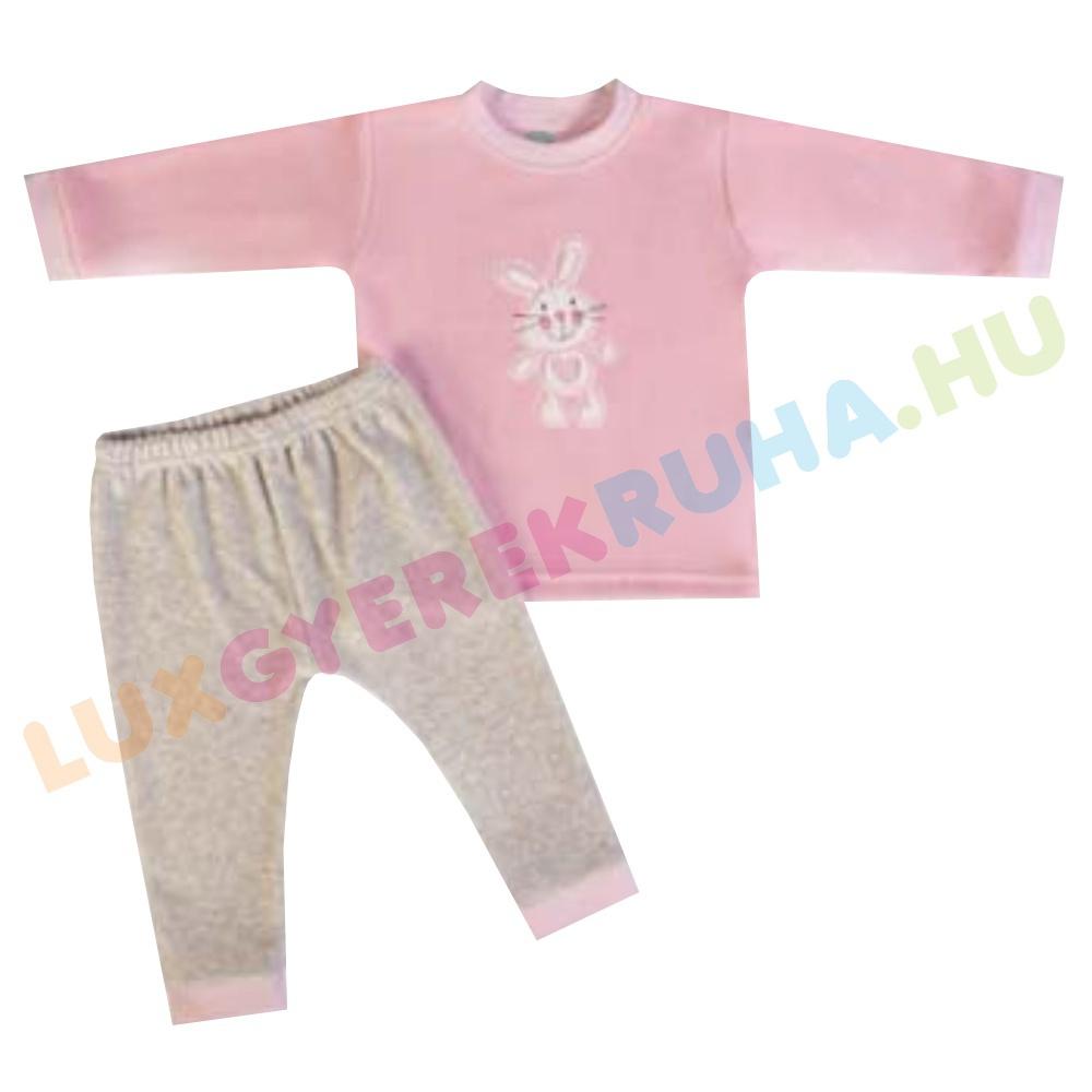 7601c38778 ELŐRENDELÉS! - F.S. Baby kétrészes plüss pizsama, szabadidő ruha lányoknak (hosszú  ujjú póló