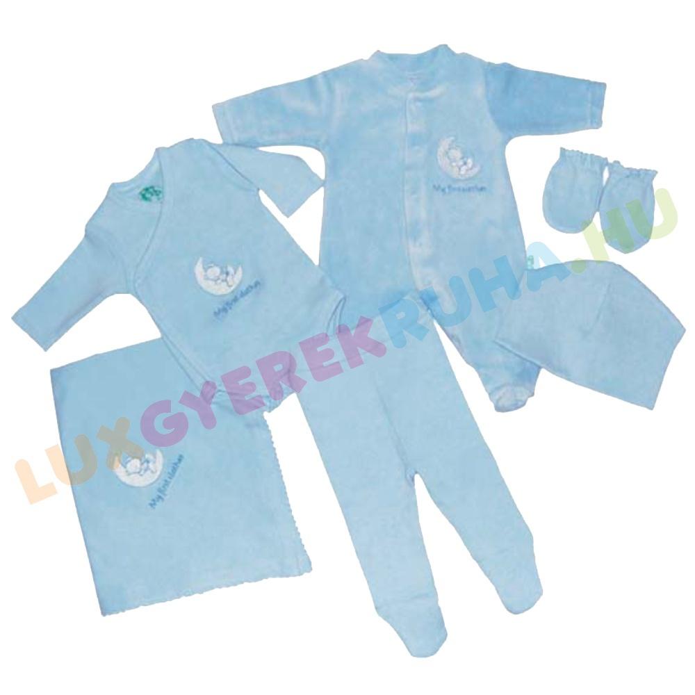 b33942b514 F.S. Baby ajándék csomag fiúknak (rugdalózó, body, nadrág, kesztyű ...