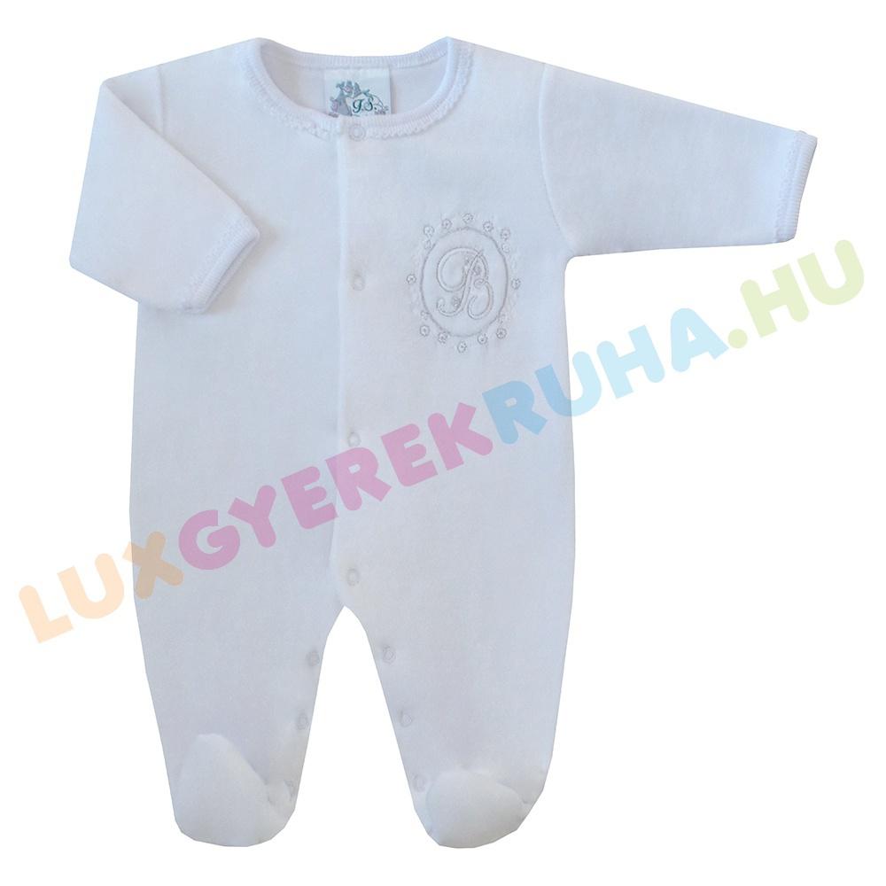 F.S. Baby elöl gombolós alkalmi plüss rugdalózó fiúknak és lányoknak 23854bef22