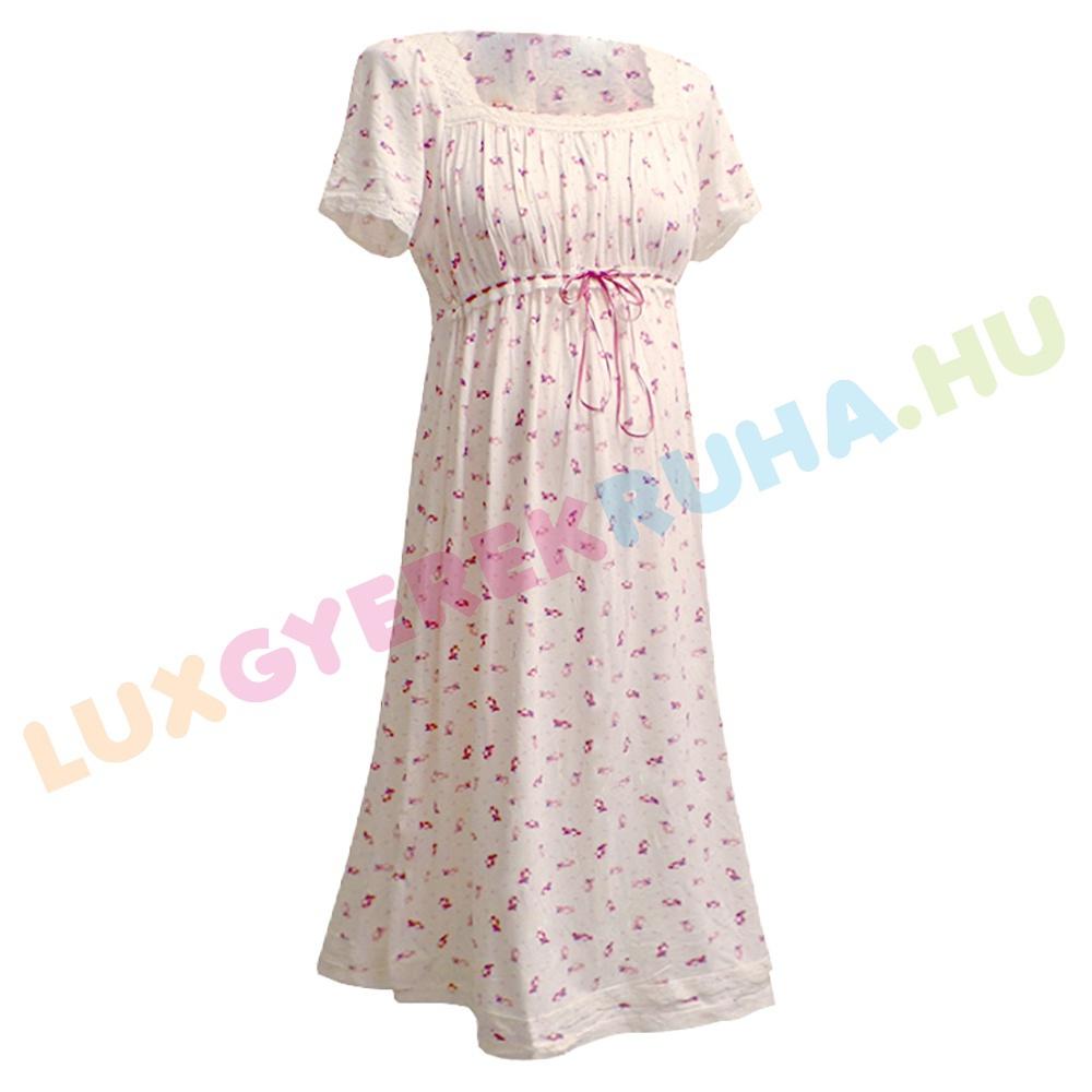 9ce827c550 AKCIÓS - 50% Kismama tunika, moletti nyári ruha, hálóing - Uszkár -  rózsaszín