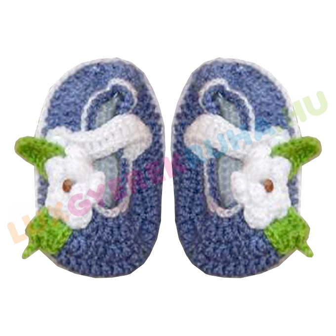 c0fa66e1a1 AKCIÓS - 50% Horgolt újszülött mamusz, kocsicipő, baba cipő - kék