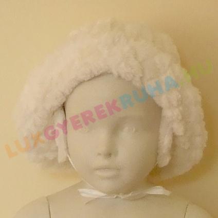 9ff1a997b1 AKCIÓS - 50% Alkalmi, megkötős bunda kalap kislányoknak fülvédővel - Sonia